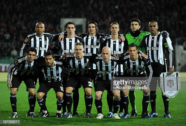 Besiktas's players pose for photographers before their UEFA Europa League group L football match against CSKA Sofia in Sofia on December 2 2010 AFP...