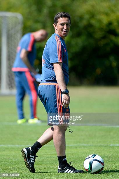 Besnik Hasi head coach of Rsc Anderlecht pictured during the training session of RSC Anderlecht at the Irene Sportcomplex in Tegelen on juli 10 2015...