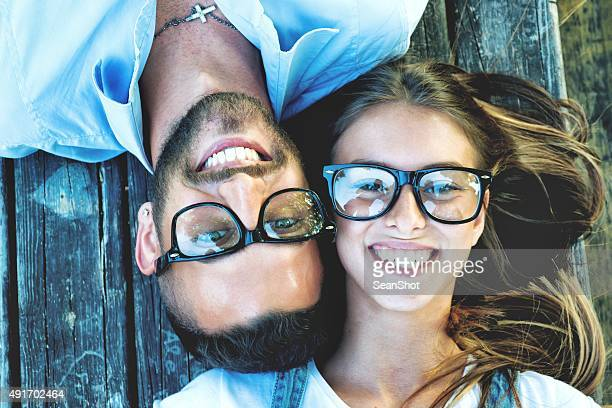 Bespectacled Portrait de Couple