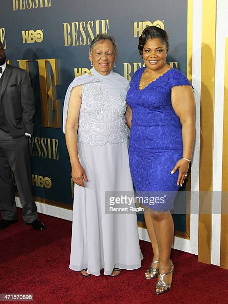 Bessie Smith's granddaughter Beverly Ann Clark and actress Mo'Nique attend the 'Bessie' New York Screening at The Museum of Modern Art on April 29...