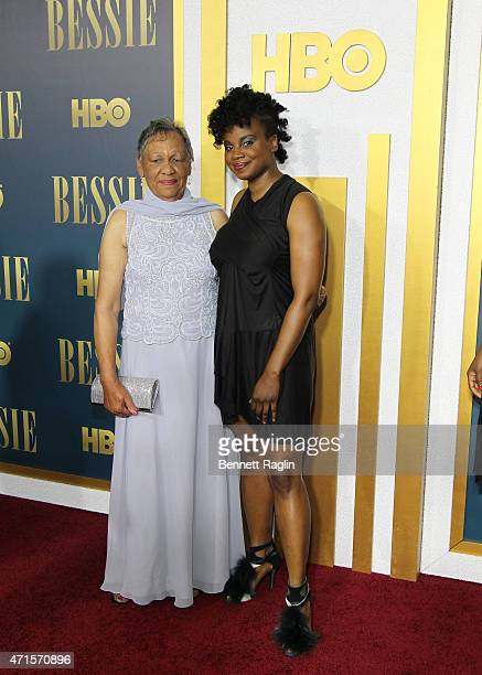 Bessie Smith's granddaughter Beverly Ann Clark and Director Dee Rees attend the 'Bessie' New York Screening at The Museum of Modern Art on April 29...