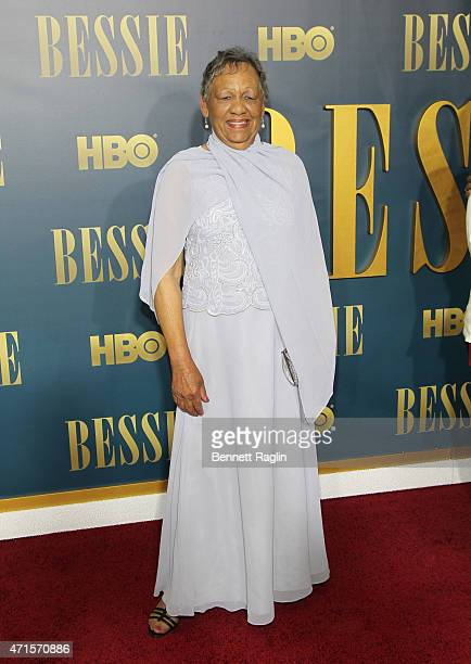 Bessie Smith's granddaughter Beverly Ann Clark attends the 'Bessie' New York Screening at The Museum of Modern Art on April 29 2015 in New York City