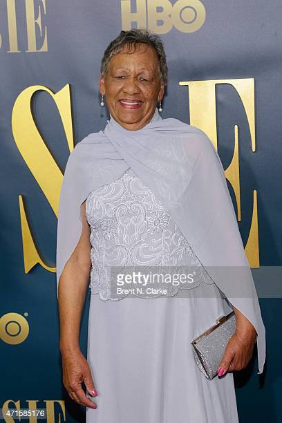 Bessie Smith's granddaughter Beverly Ann Clarke arrives for the New York screening of 'Bessie' held at The Museum of Modern Art on April 29 2015 in...