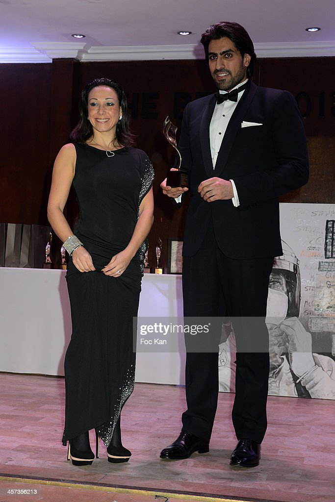 Best 2013 awarded Sarah Abitbol and Prince Salman al Saud attend the 'The Best 2013' Ceremony Awards 37th Edition at the Salons Hoche on December 16, 2013 in Paris, France.
