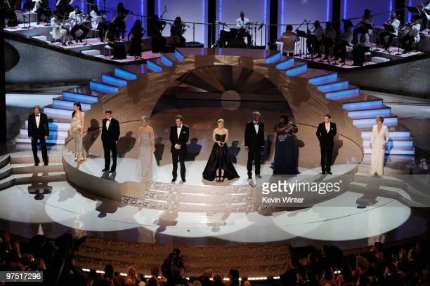 Best Actor and Best Actress nominees Jeff Bridges Sandra Bullock George Clooney Helen Mirren Colin Firth Carey Mulligan Morgan Freeman Gabourey...