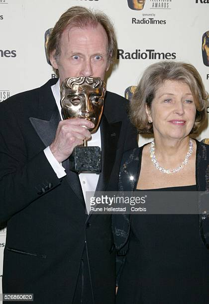'Best Actor' award winner Bill Nighy and Anne Reid attend the BAFTA TV Awards at Grosvenor House