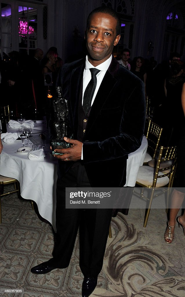 Best Actor co-winner <a gi-track='captionPersonalityLinkClicked' href=/galleries/search?phrase=Adrian+Lester&family=editorial&specificpeople=215408 ng-click='$event.stopPropagation()'>Adrian Lester</a> attends an after party following the 59th London Evening Standard Theatre Awards at The Savoy Hotel on November 17, 2013 in London, England.