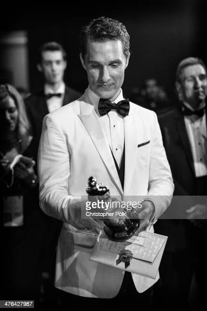 Best Actor Matthew McConaughey backstage during the Oscars held at Dolby Theatre on March 2 2014 in Hollywood California