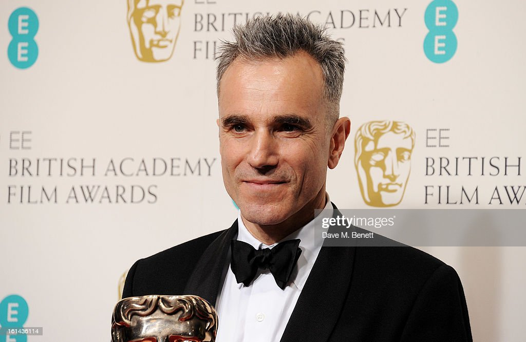 Best Actor winner Daniel Day Lewis poses in the Press Room at the EE British Academy Film Awards at The Royal Opera House on February 10, 2013 in London, England.