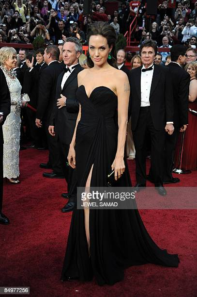 Best Actress Nominee Angelina Jolie and Best Actor Nominee Brad Pitt at the 81st Academy Awards at the Kodak Theater in Hollywood California on...