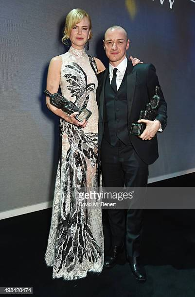 Best Actress winner Nicole Kidman and Best Actor winner James McAvoy attend The London Evening Standard Theatre Awards after party in partnership...