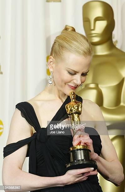 Best actress winner Nicole Kidman in the press room at the 75th Annual Academy Awards