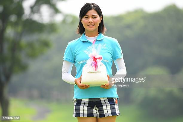 Best Amature player Hina Arakaki of Japan poses after the Samantha Thavasa Girls Collection Ladies Tournament 2016 at the Eagle Point Golf Club on...