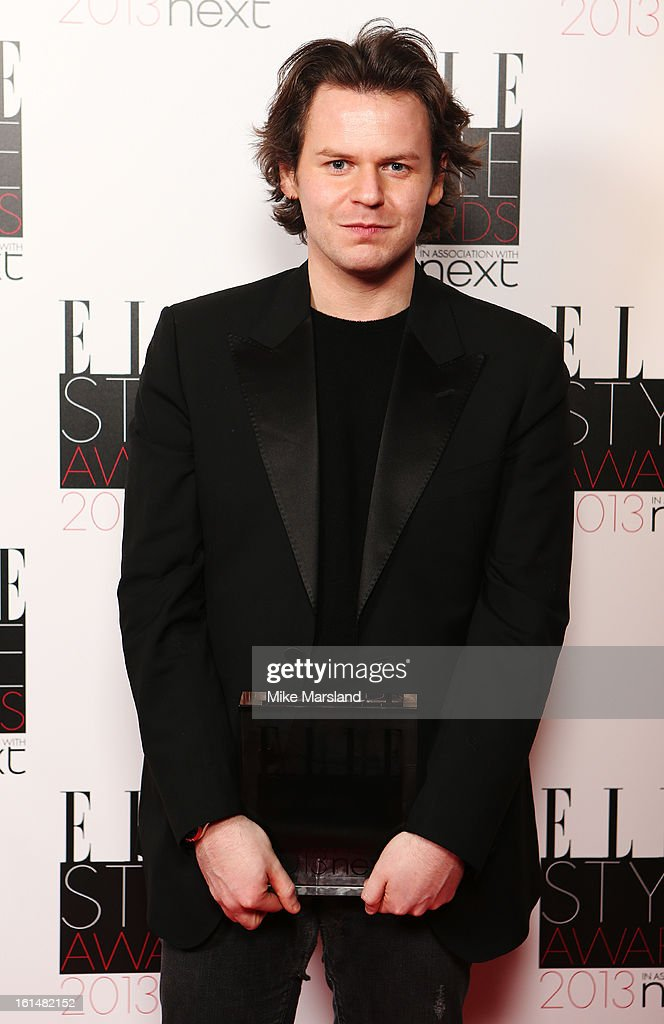 Best Britsh Designer of the Year winner Christopher Kane poses in the press room at the Elle Style Awards at The Savoy Hotel on February 11, 2013 in London, England.
