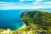 Amazing Panorama view on Coll Baix  Mallorca Beach in Spain