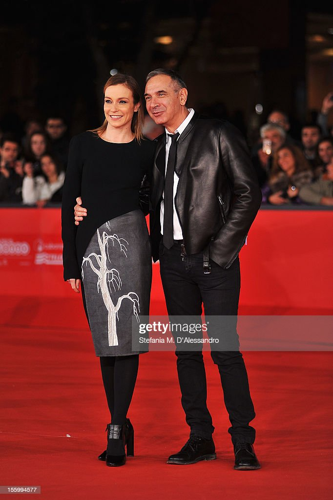Best Debut and Second Film Award Jury member Stefania Rocca and CEO of Costume National Carlo Capasa attend the Opera Prima And Seconda Jury Red...