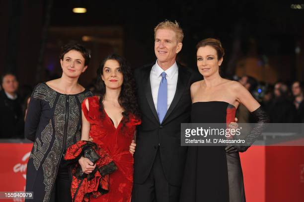 Best Debut and Second Film Award Jury members Alice Rohrwacher Tanya Seghatchian Stefania Rocca and President Matthew Modine attend the Opening Night...