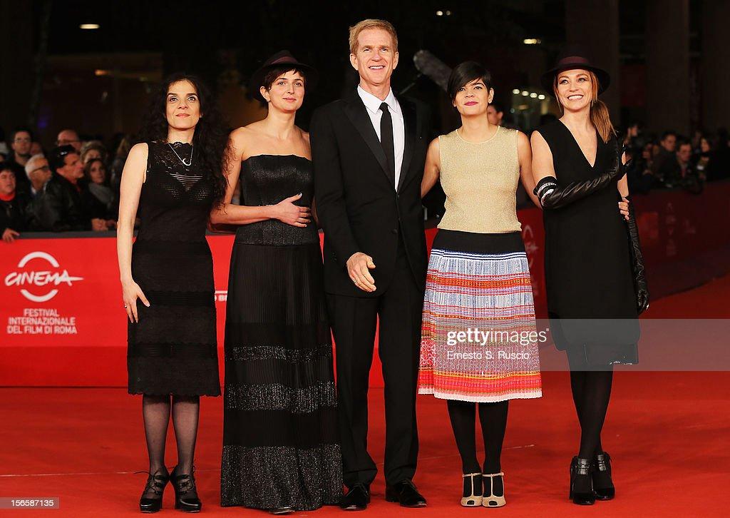 Best Debut and Second Film Award Jury members Tanya Seghatchian Alice Rohrwacher Matthew Modine Laura Amelia Guzman and Stefania Rocca attend the...