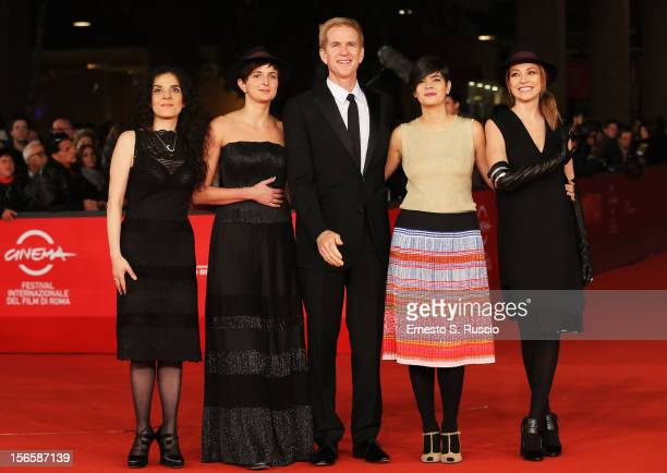 Best Debut and Second Film Award Jury members Tanya Seghatchian Alice Rohrwacher Matthew Modine Laura Amelia Guzman and Stefania Rocca attend the...