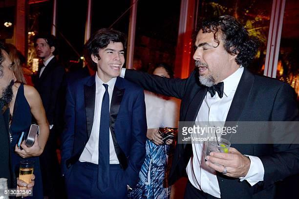 Best Director winnter Alejandro González Iñárritu attends the 2016 Vanity Fair Oscar Party Hosted By Graydon Carter at the Wallis Annenberg Center...