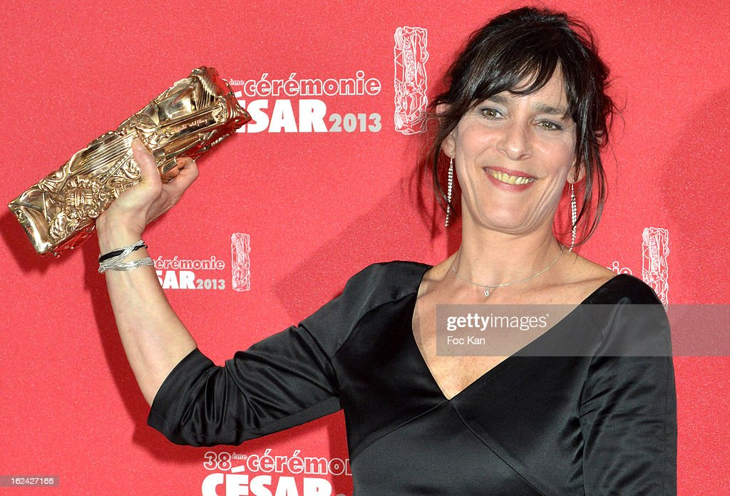 Best film editor awarded Juliette Welfling attends the Awards Room - Cesar Film Awards 2013 at the Theatre du Chatelet on February 22, 2013 in Paris, France.