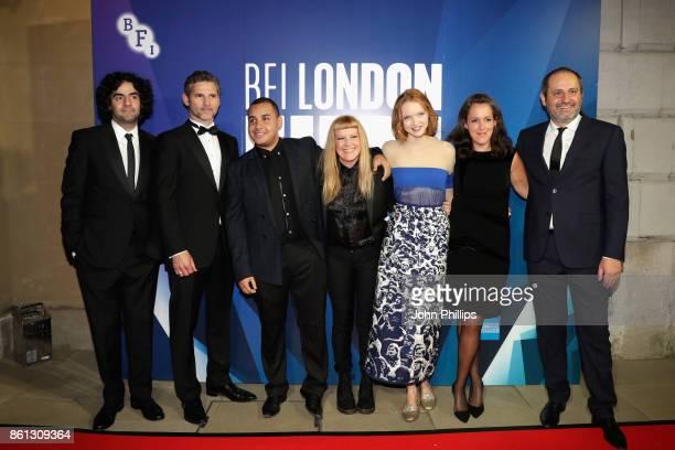 Best Film Jury members Babak Anvari Eric Bana Ashley Clark Andrea Arnoild Lily Cole Emma Thomas and Alexei Popogrebsky attend the 61st BFI London...