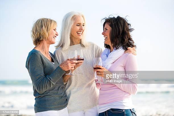 Best Friends drinking wine