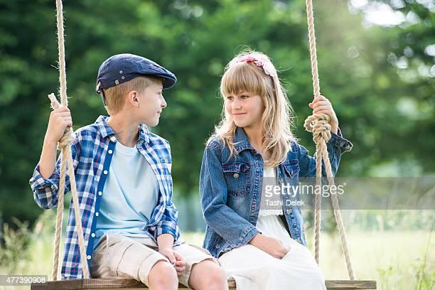 Best Friends On A Swing
