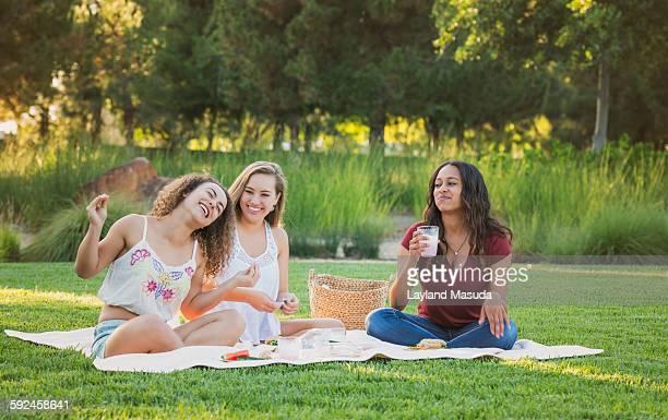 Best friends picnic - teen girls