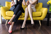 Best friends tell secrets over coffee