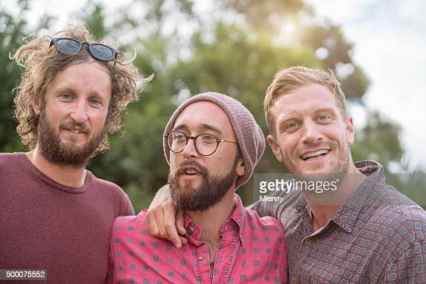 Best friends Together Hipster Group Portrait