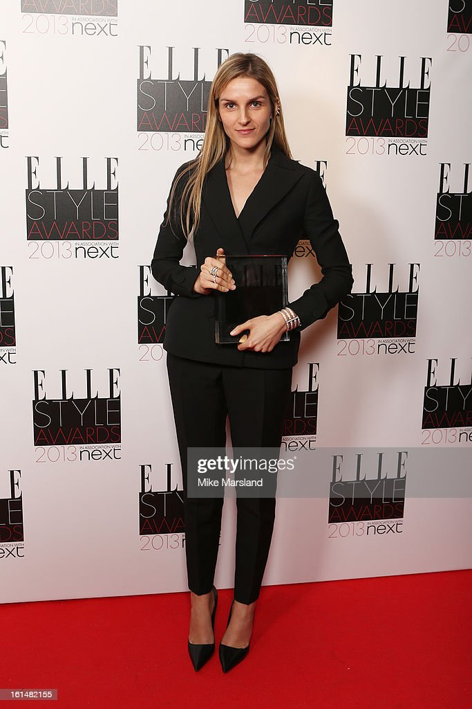 Best Jewellery Designer of the year Gaia Repossi poses in the press room at the Elle Style Awards at The Savoy Hotel on February 11, 2013 in London, England.