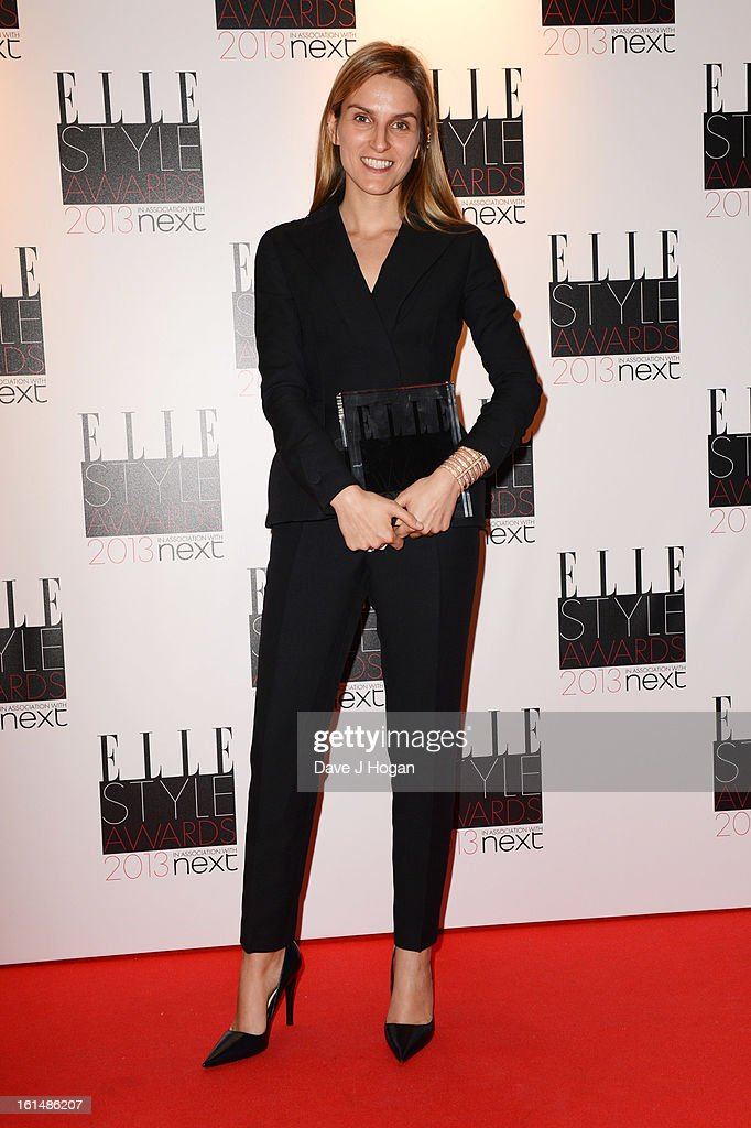 Best Jewellery Designer of the Year winner Gaia Repossi poses in the press room at The Elle Style Awards 2013 at The Savoy Hotel on February 11, 2013 in London, England.