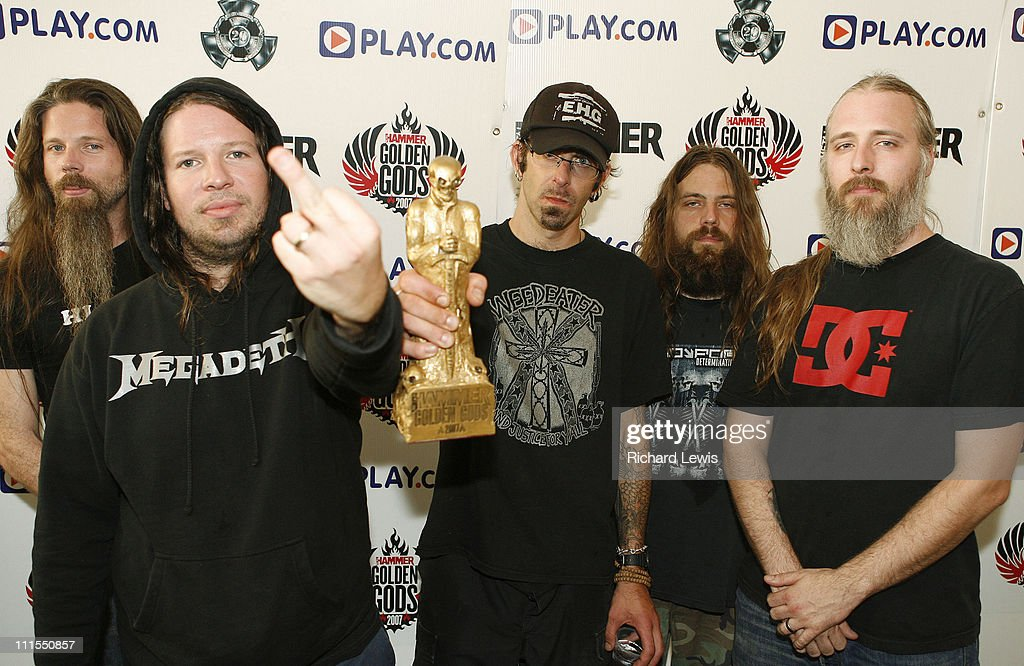 Best Live Band, <a gi-track='captionPersonalityLinkClicked' href=/galleries/search?phrase=Lamb+of+God+-+Groupe&family=editorial&specificpeople=207713 ng-click='$event.stopPropagation()'>Lamb of God</a> during Metal Hammer Golden Gods 2007 at Koko in London, United Kingdom.