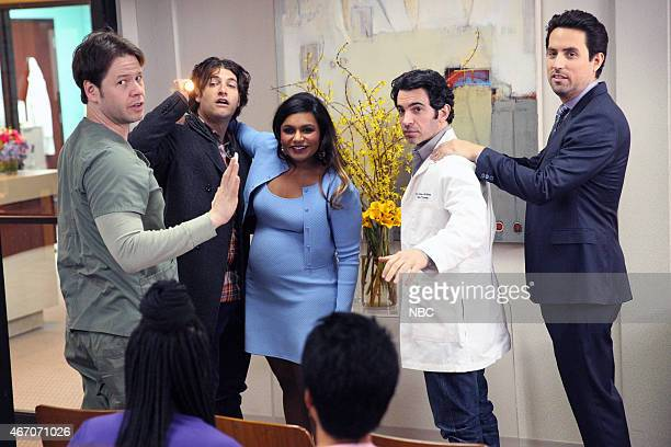 PROJECT 'Best Man' Episode 321 Pictured Ike Barinholtz as Morgan Tookers Adam Pally as Peter Mindy Kaling as Mindy Lahiri Chris Messina as Danny...