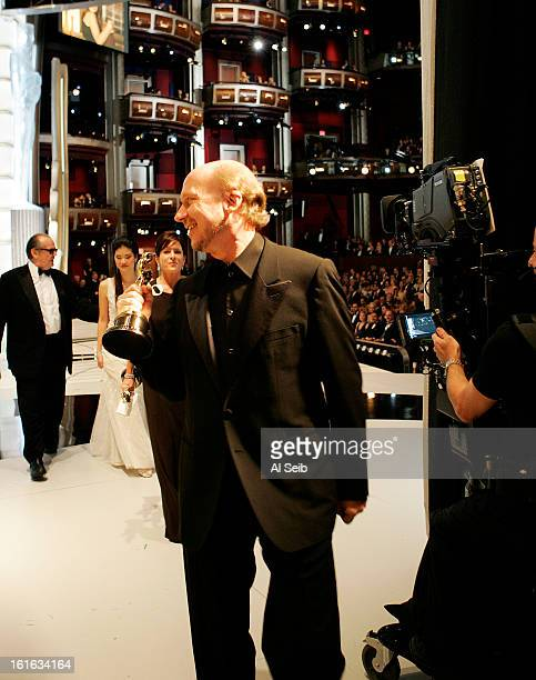 Best Motion Picture director Paul Haggis is photographed backstage at the 78th Annual Academy Awards for Los Angeles Times on March 5 2006 at the...