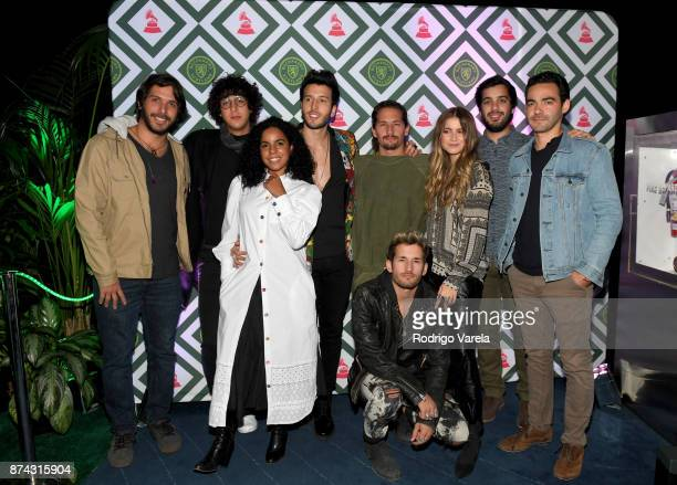 Best New Artist Nominees Rawayana Mau y Ricky Danay Suarez and Sofia Reyes attend Buchanan's New Artist during the 18th annual Latin Grammy Awards at...