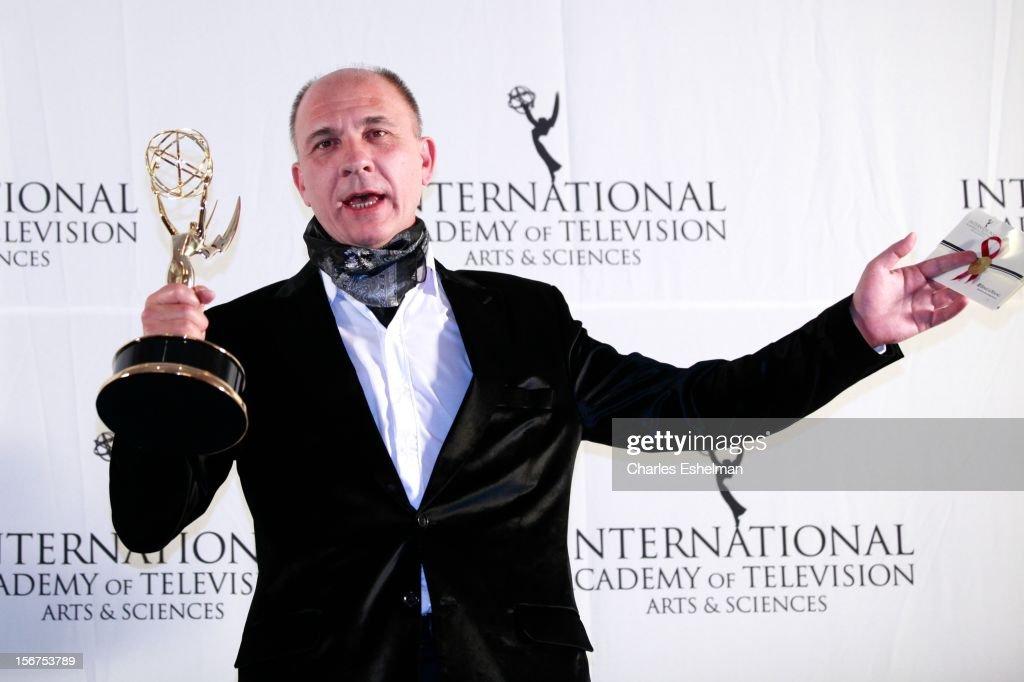 Best Performance By Actor winner Dario Grandinetti attends the 40th International Emmy Awards at Mercury Ballroom at the New York Hilton on November 19, 2012 in New York City.