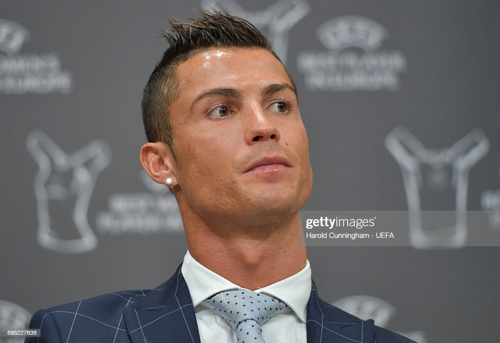 Best Player in Europe Award winner Christiano Ronaldo during a press conference during the ECF Season Kick Off 2016/17 on August 25 2016 in Monaco...