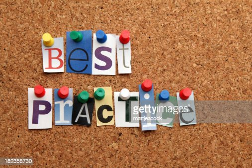 Best practice pinned on noticeboard