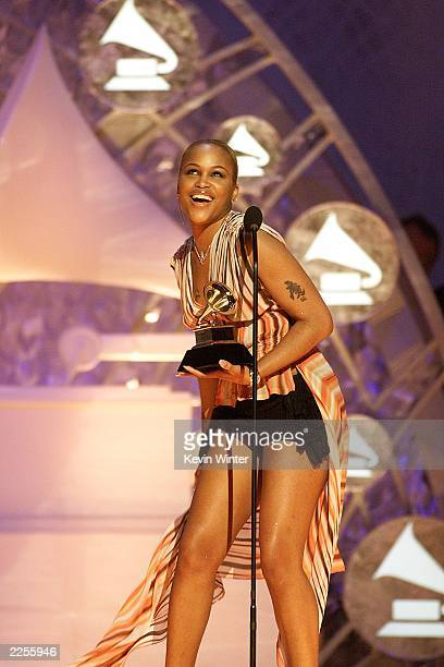 Best Rap/Sung Collaboration award winner Eve at the PreTelecast of the 44th Annual Grammy Awards at Staples Center in Los Angeles Ca Feb 27 2002