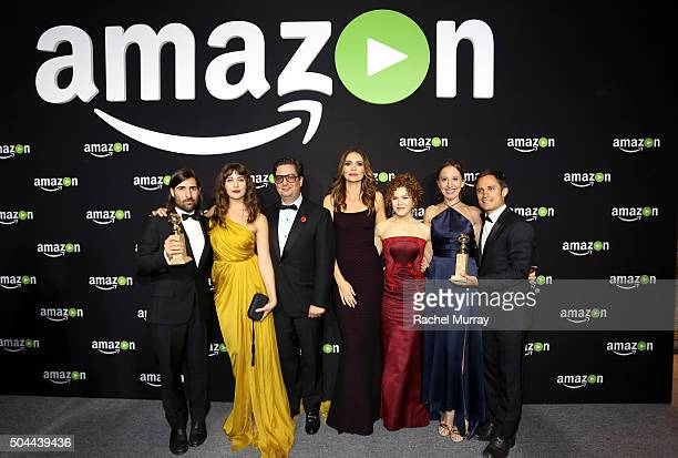Best Series Musical or Comedy 'Mozart in the Jungle' winners actor/producer Jason Schwartzman actress Lola Kirke producer Roman Coppola actresses...