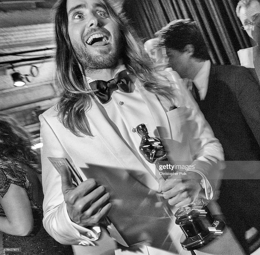 Best Supporting Actor winner Jared Leto backstage during the Oscars held at Dolby Theatre on March 2, 2014 in Hollywood, California.
