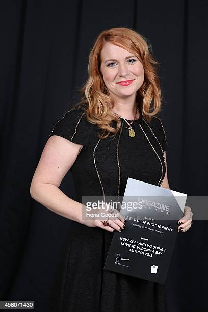 Best Use of Photograpy Celebrity and Women's Interest winner Melissa Gardi of New Zealand Weddings Love at Veronica Bay at the 2014 MPA Awards at...