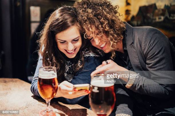 Besties enjoy their drinking time together
