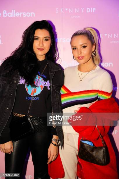 Besty Blue and Guest attend the launch of the Skinnydip x MTV collection at Ballie Ballerson on November 20 2017 in London England