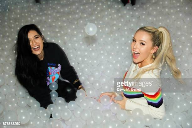 Besty Blues and Guest attend the launch of the Skinnydip x MTV collection at Ballie Ballerson on November 20 2017 in London England