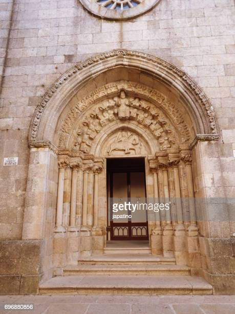 Betanzos. Portico of the parish church of santiago. Century XVI