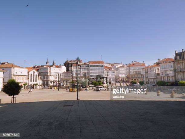 Betanzos. Square of the Brothers Garcia Naveira. City center