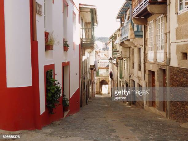 Betanzos. Typical narrow streets in the old town